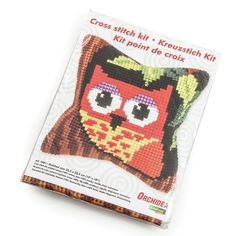 Orchidea Cross Stitch Cushion Kit Owl Embroidery Sewing Craft 25.5 x 25.5 cm