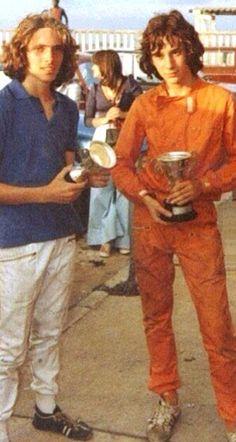 Ayrton Senna wins cup at kart races.