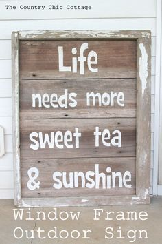 """Rustic Sweet Tea Sign -- a great sign for outdoors and easy to make as well!"""
