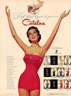 vintage 50s swimsuit vintage ad