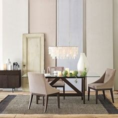 linear capiz chandelier from west elm