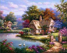 "ART~ Swan Cottage~""Sung Kim"
