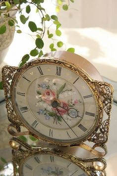 """""""Petit point roses and lily of the valley of the Clock"""""""