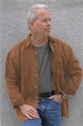 Dash Hemp's 100% hemp shirt jacket looks great over a Dash Hemp T-shirt.