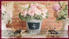 country garden wedding decorations