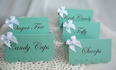 Tiffany & Co blue place escort name card by AllThingsAngelas, $24.99