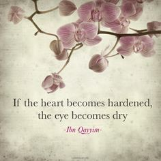 if the heart becomes hardened the eye becomes dry - ibn qayyim