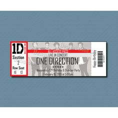 Concert Ticket Save the Date or Invitation / DIY Printable PDF ...