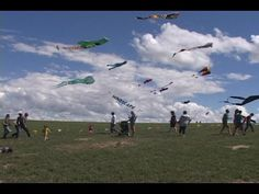 """""""Windscape Kite Festival Draws a Crowd"""" - The Swift Current skyline was filled with kites of all shapes and sizes during the Windscape Kite Festival.  Professional kite flyers from around the world showed off their skilled through the weekend. #Kites #Flyers #Windscape #Saskatchewan #CitySC"""