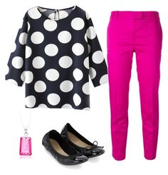 """""""T4 Polka Dots, black and pink"""" by beckyjnorton on Polyvore"""