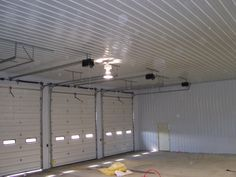 Pole barn finished with metal liner kit loudon - Metal building interior liner panels ...
