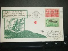USS BATAAN CVL-29 Naval Cover 1943 TINSON WWII COMMISSIONED Cachet FDC