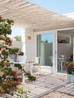 Cómo decorar un mini apartamento de verano de 37 m2. ¡¡El espacio principal: la terraza!!