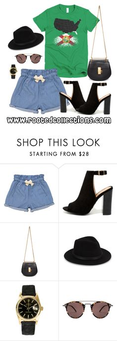 """""""rooted collections - OOTD #37"""" by rootedcollections ❤ liked on Polyvore featuring Tootsa MacGinty, Bamboo, Chloé, Saks Fifth Avenue, Rolex, Oliver Peoples, ootd and florida"""