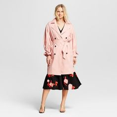 Women's Puff Sleeve Trench Coat - Who What Wear™ Pink : Target Dragon Ball, Rainy Day Outfit For Spring, Pink Images, Floral Blazer, Trends, Who What Wear, Sleeves, How To Wear, Clothes