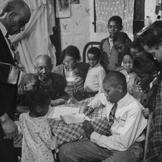 """African American Family in the Memphis Area, Where Richard Wright Wrote the Book Called """"Black Boy"""""""