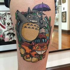 As a child I made my mom to rent My Neighbor Totoro from Blockbuster at least once a week until she finally bought me my own copy. Done by James Cumberland at Sunday Tattoo Gallery in Jacksonville, FL