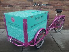 Food Bike Triciclo Space para sorvete e cupcake