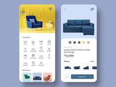 Furniture App designed by Aravind Little Jack. App Design Inspiration, App Icon Design, Ux Design, Ikea Mobile, Mobile App, Ikea App, Mobile Ui Design, Instagram Marketing Tips, User Interface Design