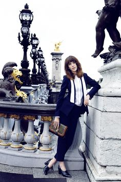 Alexa Chung pulling off the androgynous look while remaining completely feminine.