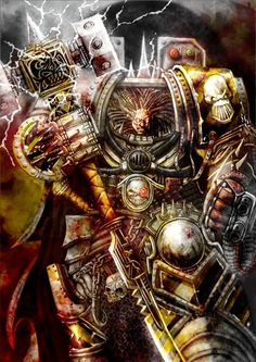 Warhammer 40K: Perturabo - Primarch Deamon prince of the Iron Warriors Chaos Space Marine legion.
