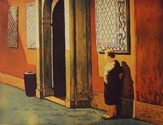 Marcel Schellekens, Wachten op Antonio, 70 cm/ 90 cm