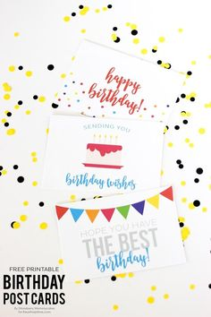 The Inspirational Board has these sweet birthday postcards over on their blog that are perfect for a quick note. Write on the back and stick to the front of your gift for a last-minute birthday present.