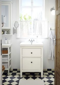 """perfect vanity for upstairs HEMNES Sink cabinet with 2 drawers - white, 23 """" - IKEA Sink Cabinet, Small Bathroom, Bathroom Inspiration, Drawers, Wash Stand, Ikea Bathroom Sinks, Bathrooms Remodel, Hemnes, Ikea"""