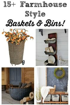 Today for Farmhouse Friday, I picked a topic that's a borderline obsession with me – baskets and bins! I love buying them, upcycling them, and repurposing them, and I use them in every room in my house, as I'm sure you do too. I've got a big round-up ofways to use baskets and bins in your farmhouse decor! I made these wall bins on salvaged wood out of old elevator parts – those were a great antique store find! (See  {Read More}