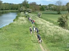 The Cambridge riverwalk along the Fen Rivers Way following the Rivers Carn and Ouse. This walk takes place on Saturday 6th May 2012.