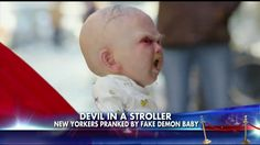 WATCH: 'Devil Baby' Terrifies New Yorkers in Prank Video>>