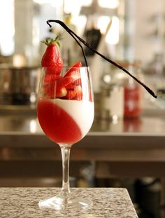 Verrine fraise et mousse