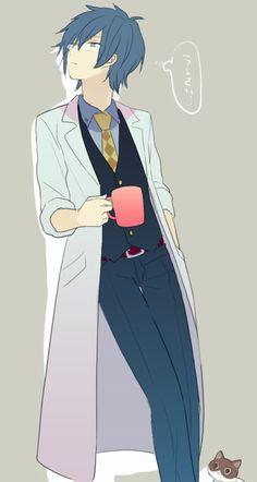 """cartoon summarizes"""" / the """"Akiyoshi"""" [pixiv] Moe Manga, Moe Anime, Anime Art, Vocaloid Kaito, Kaito Shion, Cute Anime Boy, Kawaii Anime Girl, Anime Boys, Blue Hair Anime Boy"""