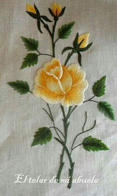 Grand Sewing Embroidery Designs At Home Ideas. Beauteous Finished Sewing Embroidery Designs At Home Ideas. Hand Embroidery Flowers, Flower Embroidery Designs, Creative Embroidery, Hand Embroidery Stitches, Silk Ribbon Embroidery, Crewel Embroidery, Embroidery Techniques, Cross Stitch Embroidery, Machine Embroidery Designs
