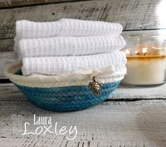 Sea Turtle Coil Basket Set, Coiled Baskets, Rope Baskets, Nautical Gift Baskets, Nautical Decor Baskets, Hand Dyed Fabric, Laura Loxley Dyeing Fabric, How To Dye Fabric, Girls Room Storage, Etsy Handmade, Handmade Gifts, Nautical Gifts, Rope Basket, Gifts For Your Girlfriend, Muslin Fabric
