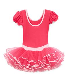Take a look at this Hot Pink & Pink Ballet Dress - Infant, Toddler & Girls today!