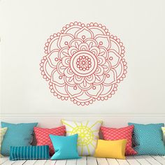Mandala Wall Decal Yoga Studio Wall Sticker Decals Ornament Moroccan Pattern Namaste Lotus Flower Home Decor # M242 in Mandala Wall Decal Yoga Studio Wall Sticker Decals Ornament Moroccan Pattern Namaste Lotus Flower Home Decor # M242 van Muurstickers op AliExpress.com | Alibaba Groep