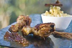 Pollo asado con chutney y puré de batatas Foto:Alfredo Willimburgh