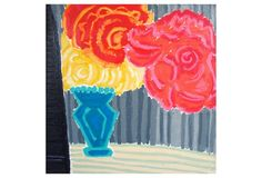 Kate Lewis, Flowers with Striped