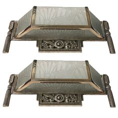 Pair of French Art Deco Sconces with Stunning Deco Details | From a unique collection of antique and modern wall lights and sconces at https://www.1stdibs.com/furniture/lighting/sconces-wall-lights/