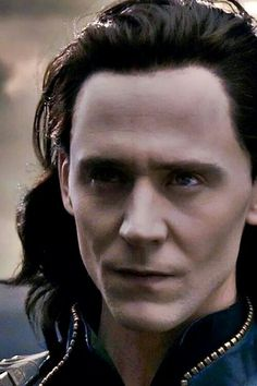 Tom Hiddleston as Loki. Looking like he's not of this world. <--Well, he is of Asgard. <--- That comment