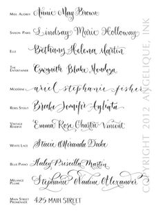Hand Calligraphy Envelope Addressing Style Rebel by AngeliqueInk--ELLE! Calligraphy Envelope, Calligraphy Letters, Typography Letters, Modern Calligraphy, Typography Design, Calligraphy Types, Calligraphy Tattoo, Alphabet Fonts, Calligraphy Practice