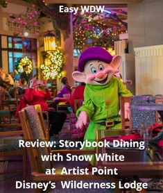 Disney World Character Dining | Review: Storybook Dining with Snow White at Artist Point at Disney's Wilderness Lodge – easyWDW | #DisneyCharacters #Charactermeals