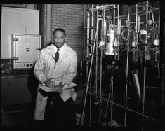 Moddie Daniel Taylor, was a member of the small, elite group of African American scientists who worked on the Manhattan Project, the code name for the top-secret effort to create an atomic bomb during World War II. Taylor graduated valedictorian from Lincoln University in Missouri and received M.S. and Ph.D. degrees from the University of Chicago. He became chair of the Chemistry Department at Howard University. #BlackHistory