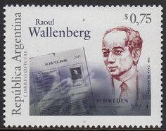 Raoul Wallenberg on stamp from Argentina
