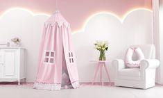 A Tenda Patchwork traz para a sua princesinha o sonho de um universo cor-de-rosa dentro do quarto de bebê, feito somente para ela! A peça de dois metros de altura transforma o cantinho em um verdadeiro lounge da brincadeira, onde a sua menina pode estimular a imaginação e o pensamento criativo que existe dentro de toda criança. #patchwork #quartodemenina #quartodebebe