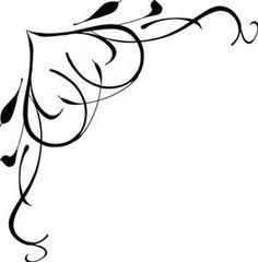 black heart and bows corner borders black swirl border clip art rh pinterest com free elegant swirl border clip art red swirl border clip art