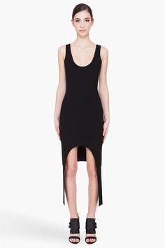 givenchy black stretch dress