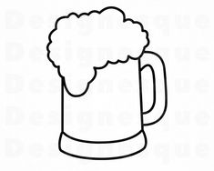 Beer Mug Clip Art, Beer Clipart, Beer Cookies, Beer Birthday Party, Mug Template, String Art Templates, Fathers Day Cake, Diy Father's Day Gifts, Mug Designs