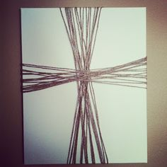make a cross diy art - could even do the two tone paint thing with this